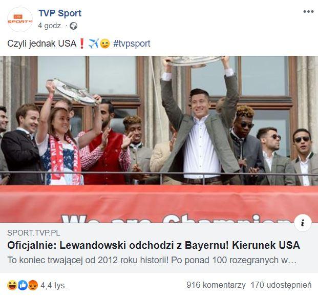 Clickbait TVP Sport zmylił tysiące czytelników