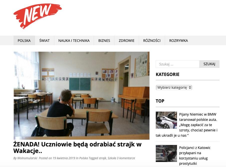Portal informacyjny ogłosił, że uczniowie będą musieli odrabiać czas strajku w wakacje. MEN zaprzeczyło tym doniesieniom
