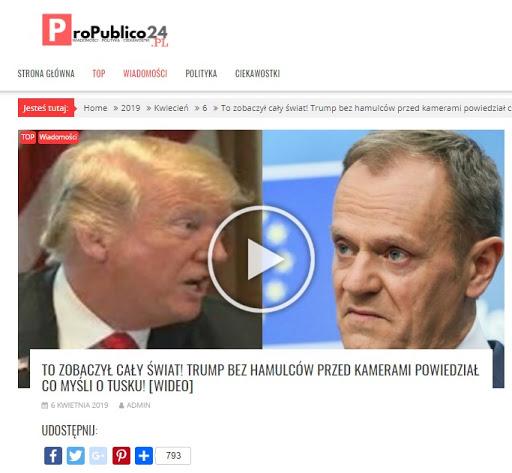 Gorąco na linii Trump-Tusk? Przeinaczona wypowiedź amerykańskiego prezydenta w ProPublico24