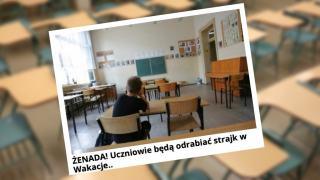 Strajk nauczycieli a wakacje