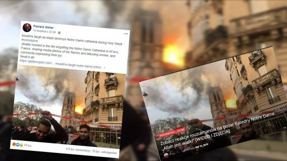 Notre Dame zdjęcie z pożaru