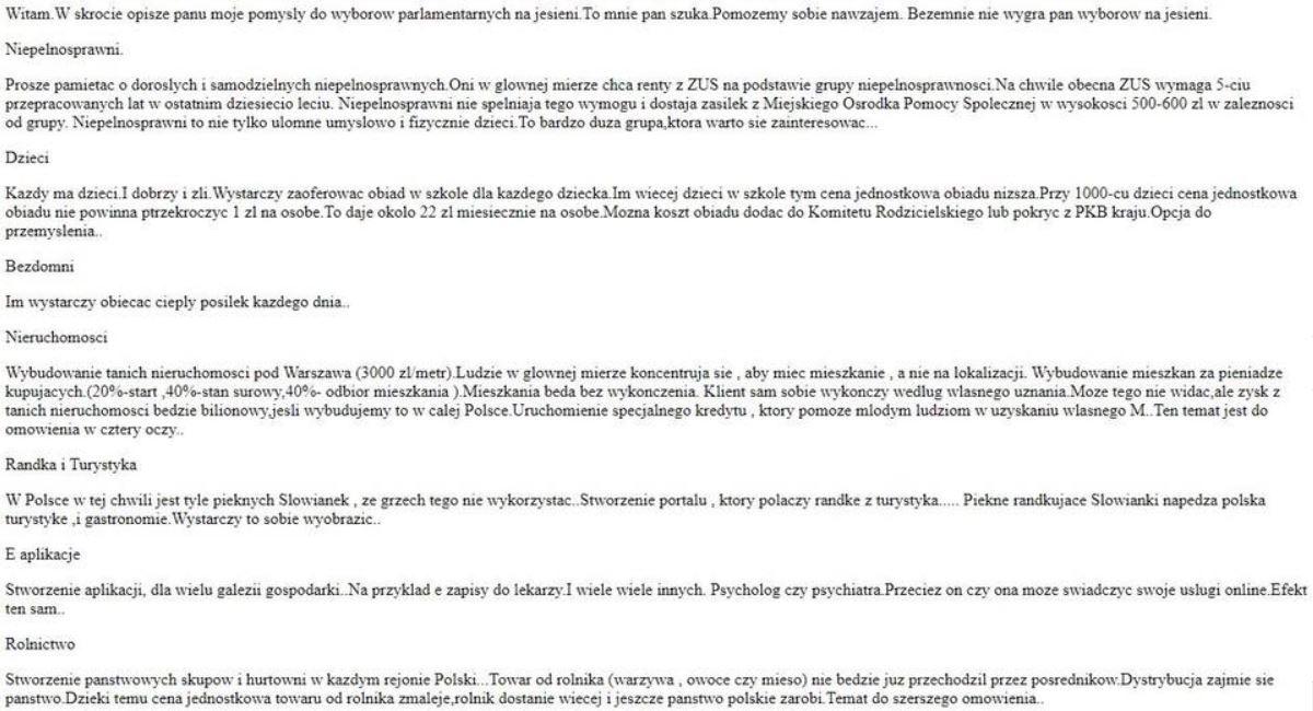 Fronda przypisuje Biedroniowi program polityczny: ,Randka połączona z turystyką (prostytucją) będzie motorem gospodarki