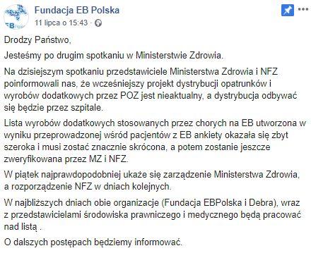 Ministerstwo zmienia zdanie ws. refundacji opatrunków? Zmagający się z EB biją na alarm