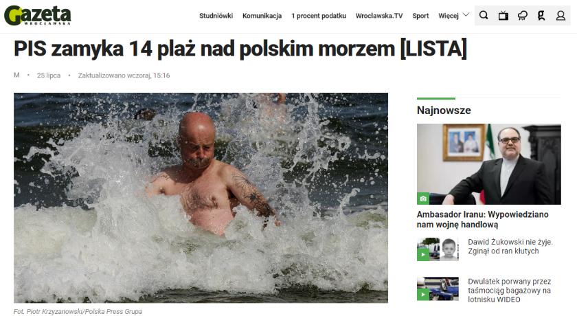 PiS zamyka plaże nad Bałtykiem? Nie chodzi wcale o partię rządzącą