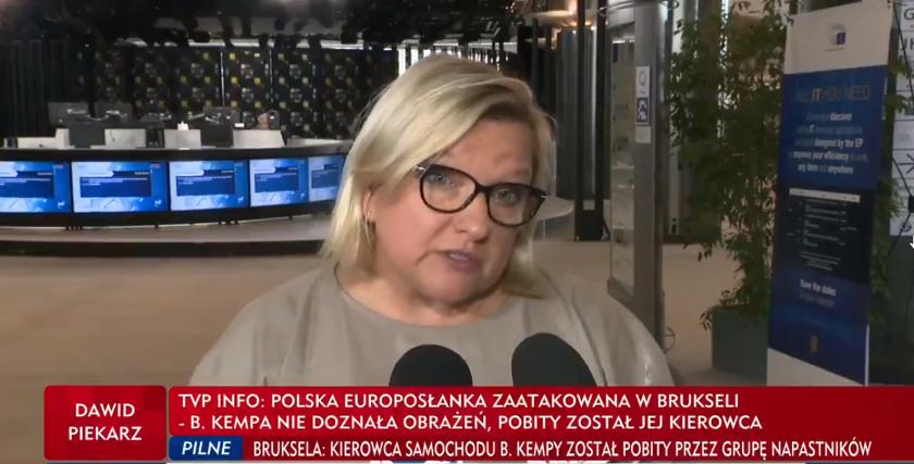 TVP informowało o napaści na Beatę Kempę i motywowało sprawę politycznie. Prokuratura przedstawiła inną wersję zdarzeń