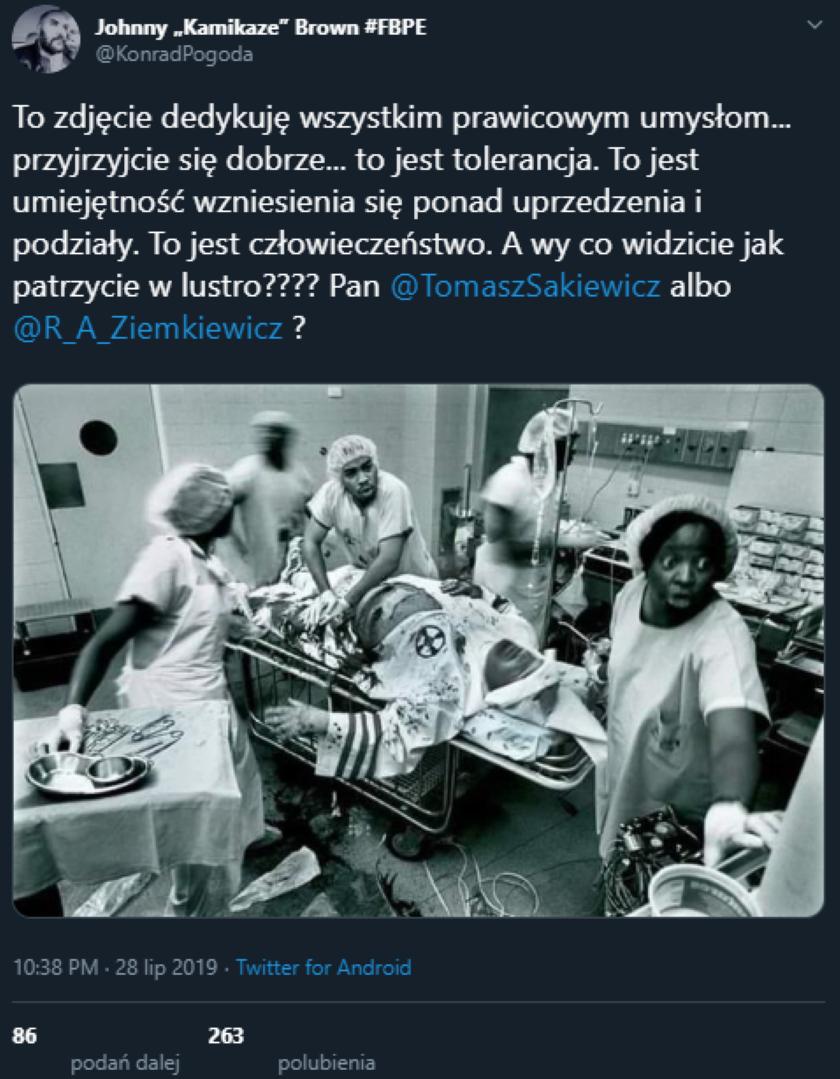 Lekarz ratujący życie członkowi Ku Klux Klanu