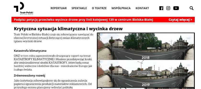 W TVP Info chciano udowodnić, jak wygląda wycinka drzew w Warszawie. Pokazano zdjęcia z Bielska-Białej