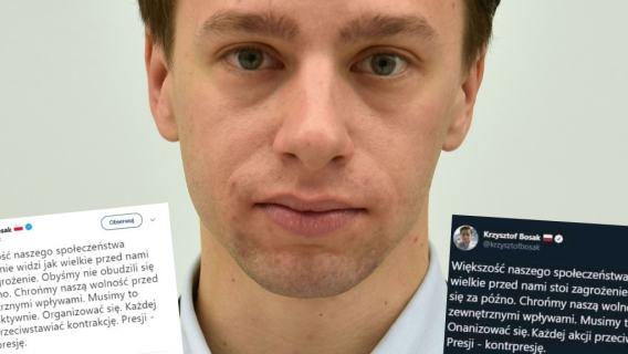 Tomasz Lis podał dalej fałszywy wpis Krzysztofa Bosaka