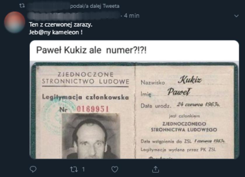 Paweł Kukiz Twitter