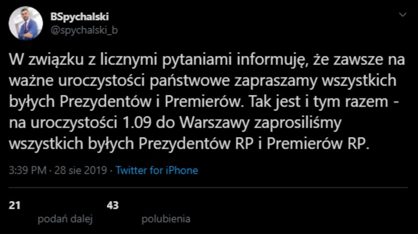 Duda nie zaprosił Tuska na obchody rocznicy wybuchu II wojny światowej? Rzecznik prezydenta dementuje