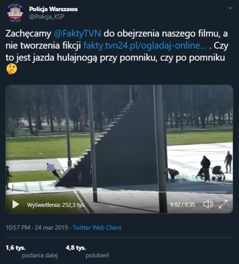 Fake newsy TVN: policja
