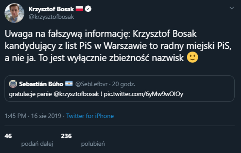 Krzysztof Bosak nie przechodzi do PiS