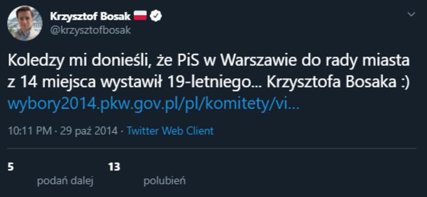 Krzysztof Bosak wybory parlamentarne