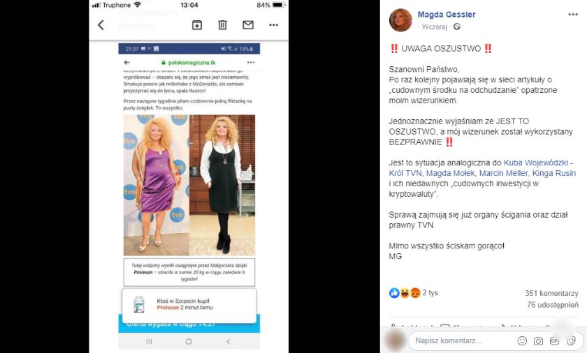 Magda Gessler ostrzegła fanów