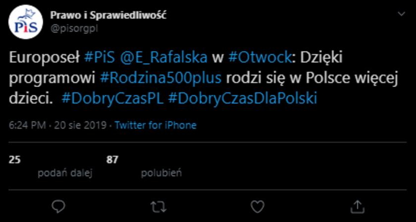 PiS cytuje Rafalską