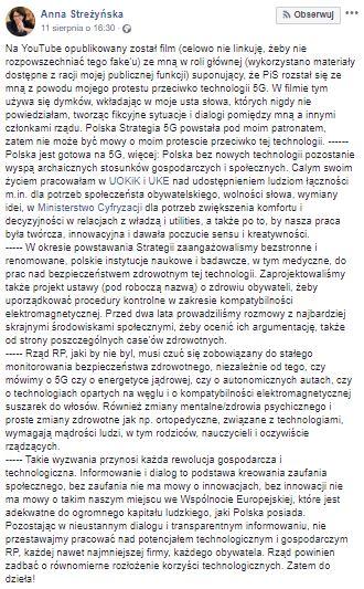Anna Streżyńska wplątana w niebezpieczną teorię spiskową. Wystosowała oświadczenie