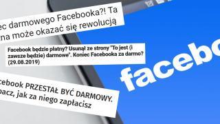 Facebook przestanie być darmowy?