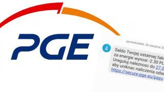 PGE nie rozsyła podobnych SMS-ów