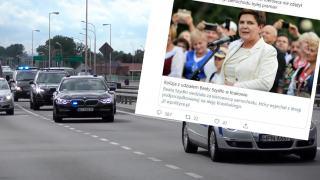 Beata Szydło doprowadziła do kolizji