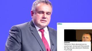 Tomasz Sakiewicz o swoim wykształceniu