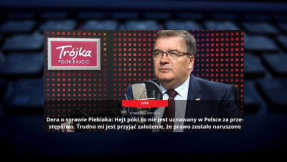 Andrzej Dera o karaniu za hejt