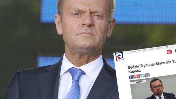 Telewizja Republika o sprawie wniosku o Trybunał Stanu dla Kopacz i Tuska
