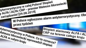 Pierwszy stopień alarmowy ALFA i ALFA-CRP w Polsce. Czym są i dlaczego je wprowadzono?