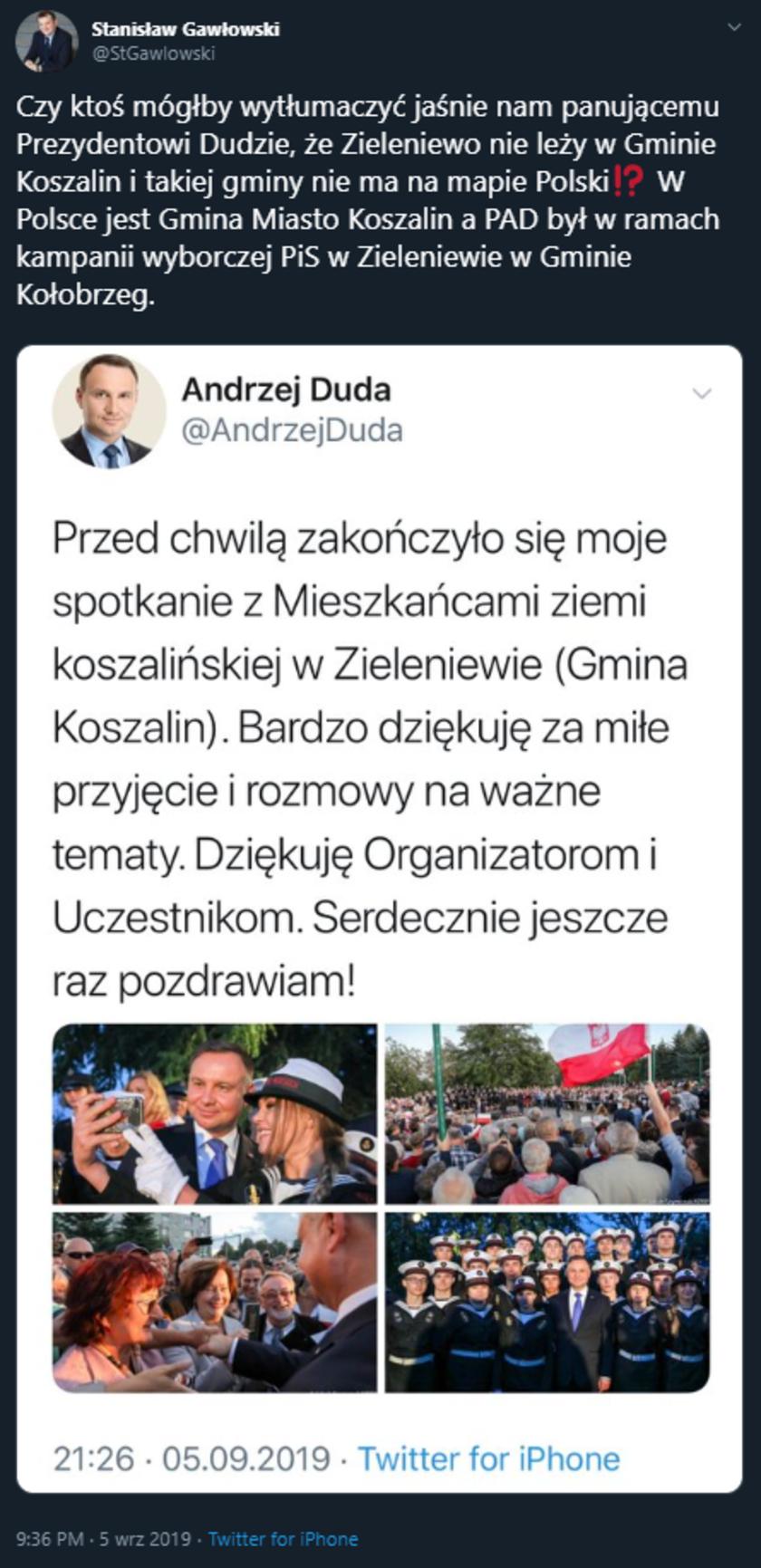 Andrzej Duda Kołobrzeg