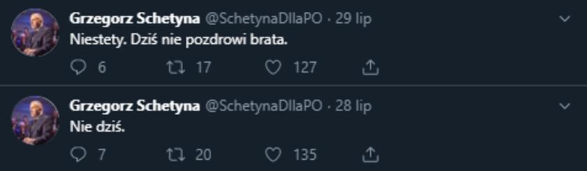 Grzegorz Schetyna fałszywy Twitter