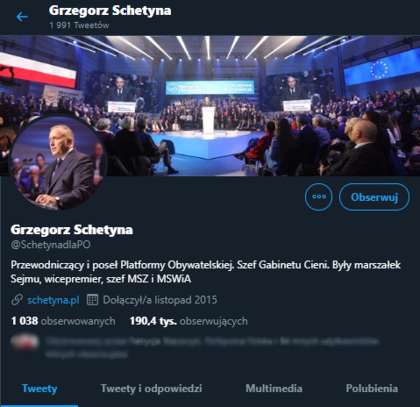Grzegorz Schetyna Twitter