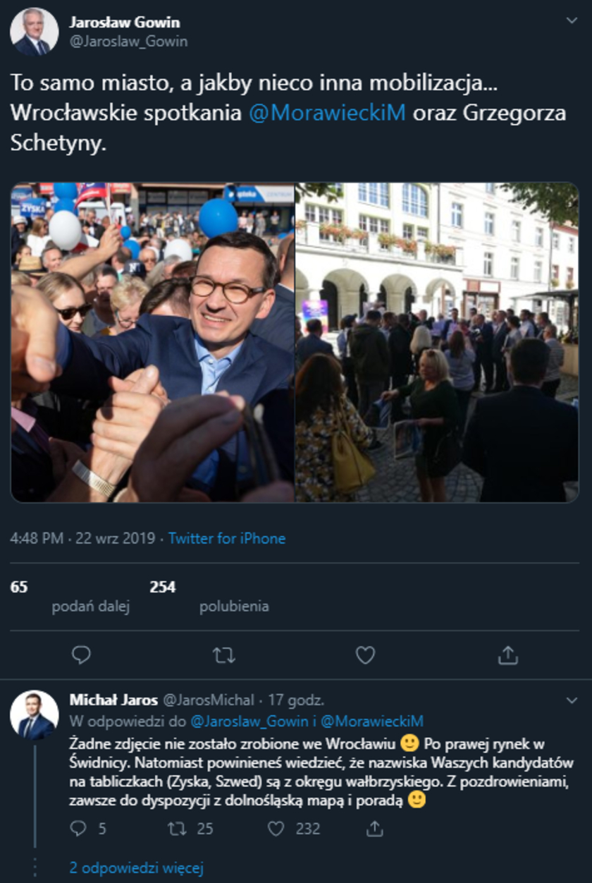 Jarosław Gowin Twitter