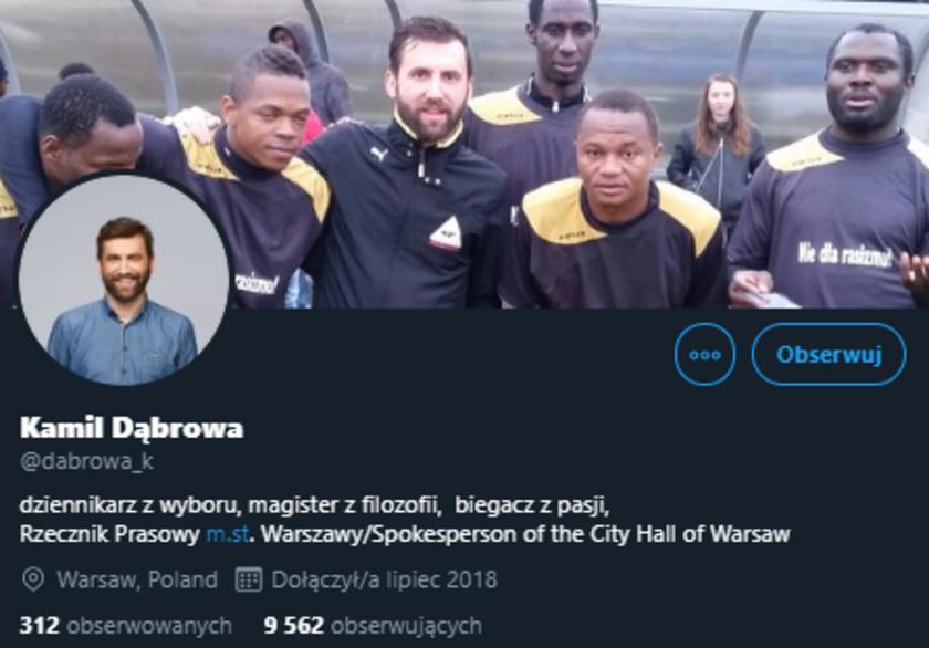 Kamil Dąbrowa Twitter