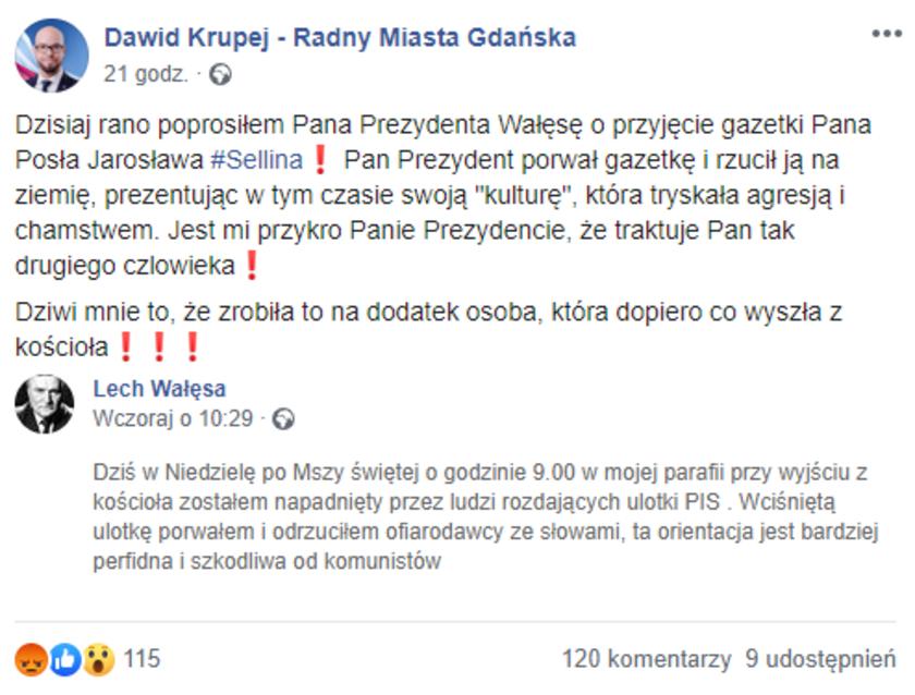 Lech Wałęsa napaść