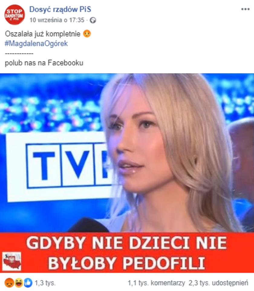 Magdalena Ogórek Facebook