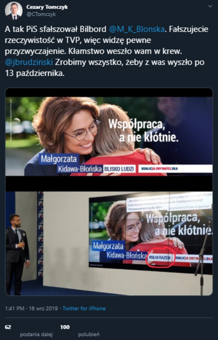 Małgorzata Kidawa-Błońska bilbord