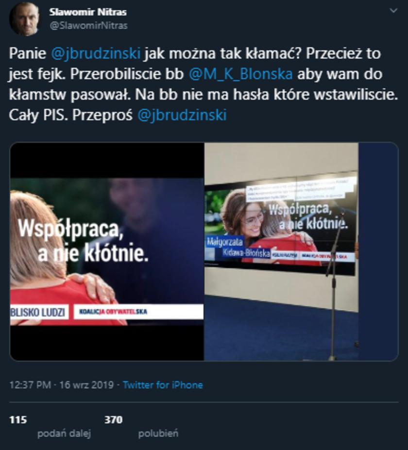 Małgorzata Kidawa-Błońska plakat