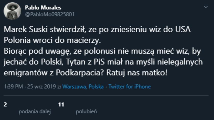 Marek Suski wizy