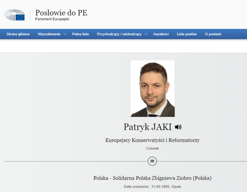 Patryk Jaki Solidarna Polska