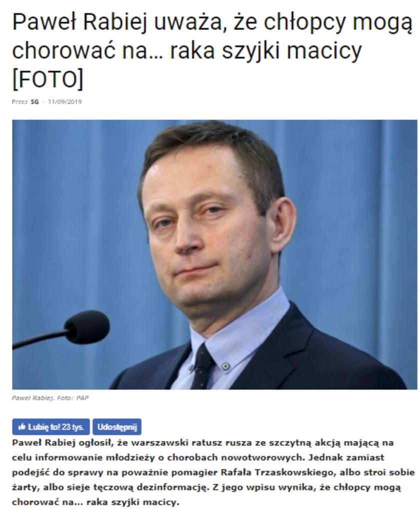 Paweł Rabiej Najwyższy Czas!