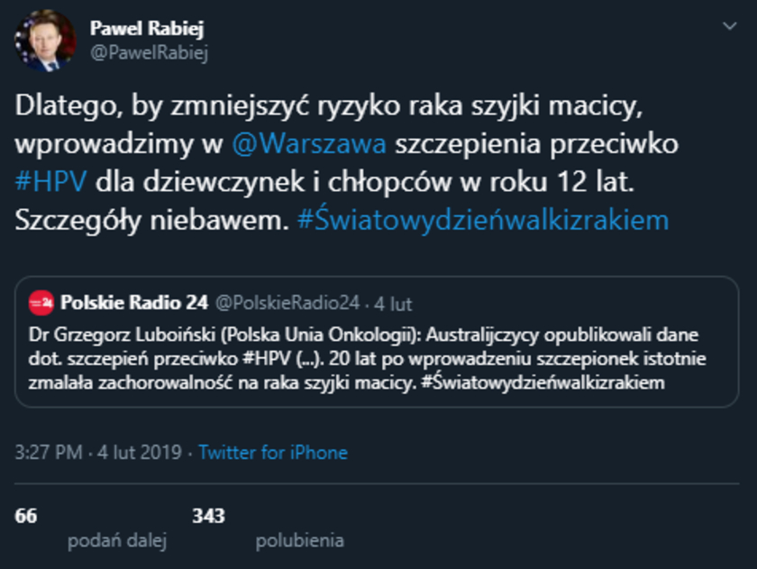 Paweł Rabiej Twitter