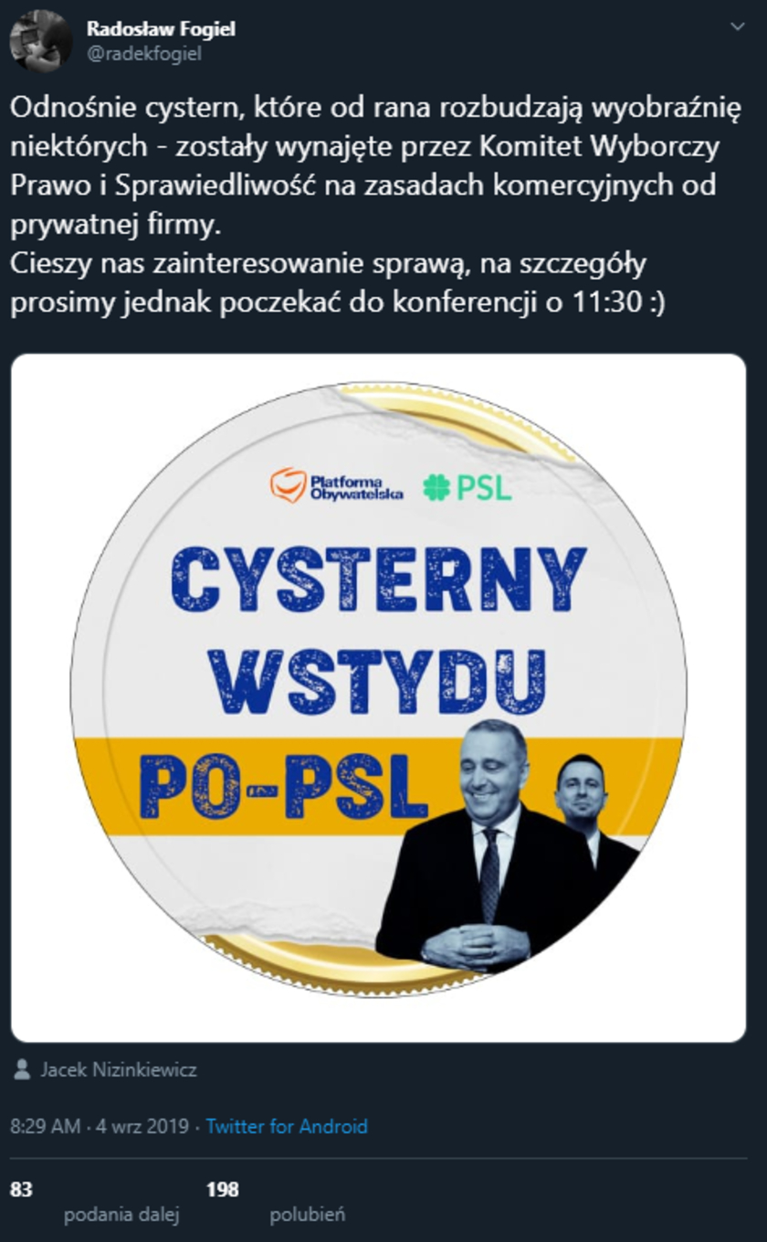 PiS cysterny