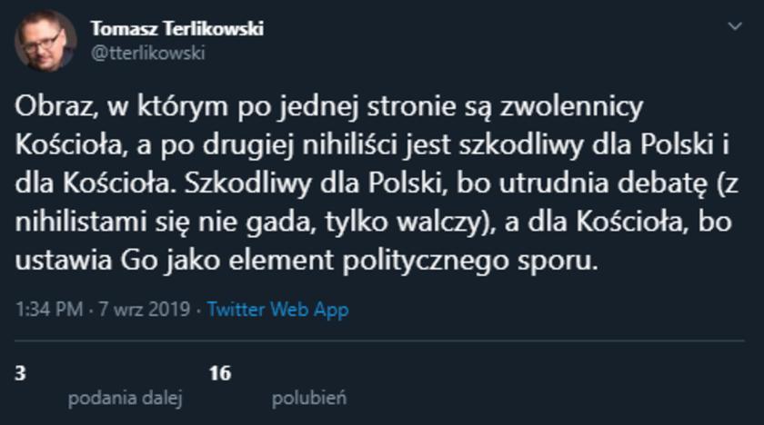 Tomasz Terlikowski o Kościele