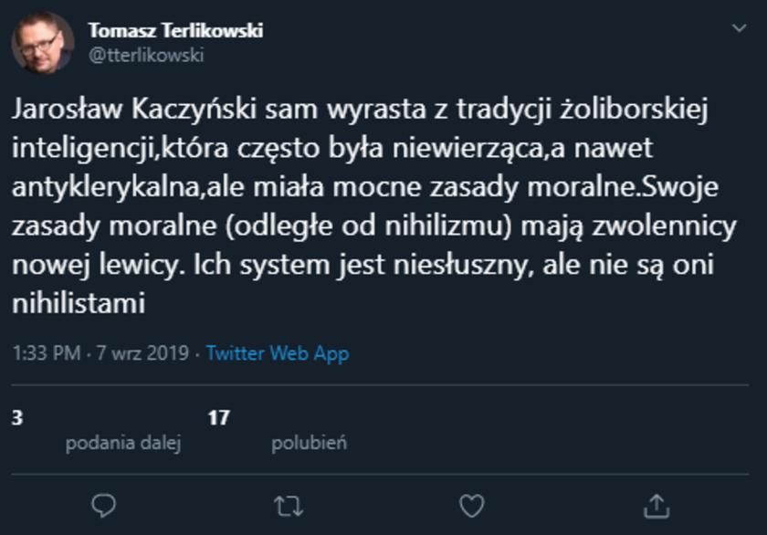Tomasz Terlikowski na Twitterze