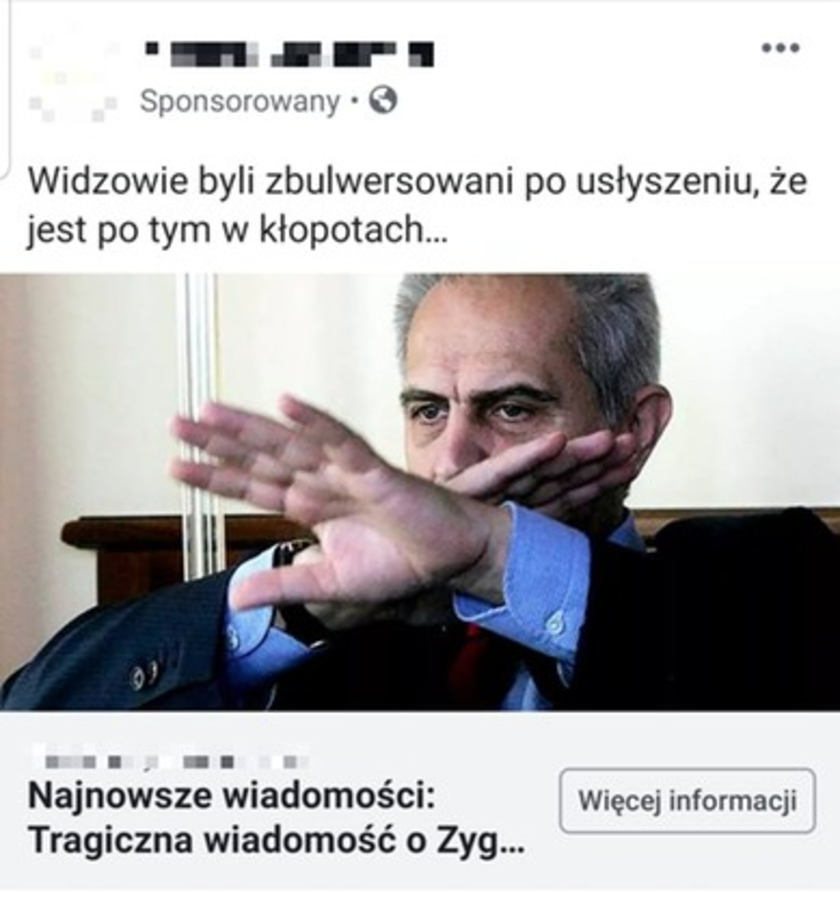 Zygmunt Solorz-Żak Facebook fake