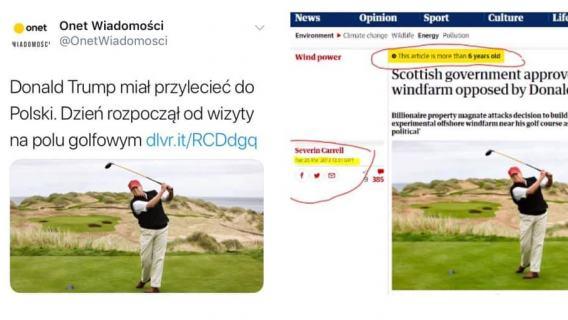 Donald Trump na polu golfowym