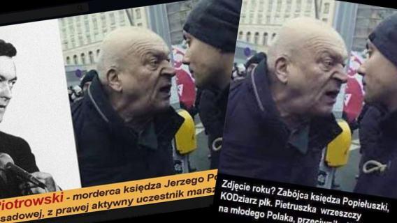 Jerzy Popiełuszko fake grafika