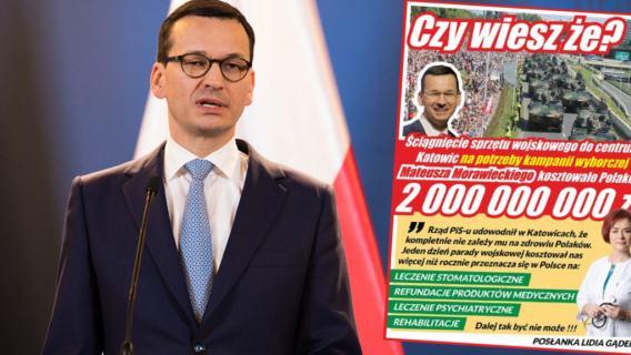 Mateusz Morawiecki defilada wojskowa