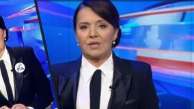 Danuta Holecka w Wiadomościach TVP z przypinką PiS? Fotomontaż zdobywa popularność na Twitterze