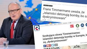 Media przekręciły słowa Timmermansa nt. muzułmanów w Europie. Przedstawiciele KE odpowiadają