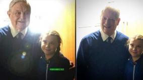 Twittera obiega przeróbka zdjęcia Grety Thunberg. Aktywistka nie pozowała z Sorosem